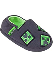 Minecraft Boys/Kids Comfort Slippers House Shoe (Creeper Zombie Steve Alex)