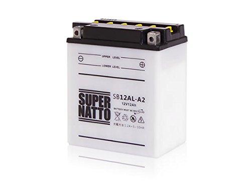 バイクバッテリー充電器+SB12AL-A2 セット■■YB12AL-A2に互換■■ボルティクススーパーナット B00ZQOFVJA SB12AL-A2 充電器つき  SB12ALA2 充電器つき