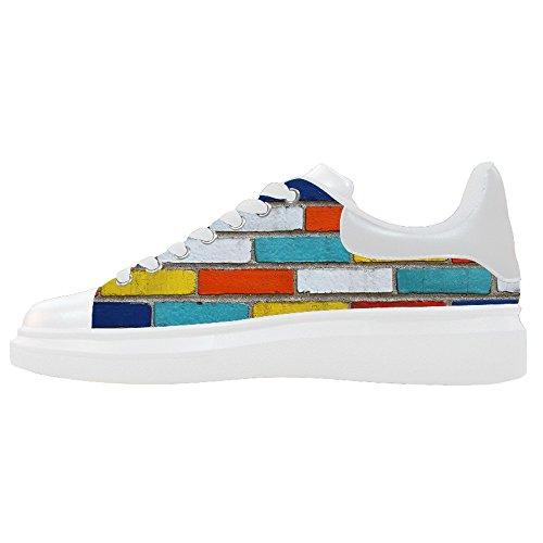 Di Women's Del Le Scarpe Mattoni Muro Scarpe Shoes Canvas Struttura Custom XtwCqnUq
