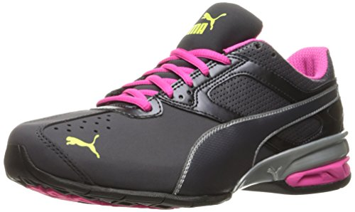 PUMA Women's Tazon 6 WN's FM Cross-Trainer Shoe, White/Fluorescent Peacock, 11 M US