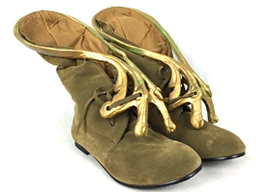 Princess Leia Slave Costume Boots (Slave Leia Jabba Boots Footwear Jerba Skin Shoes Princess Star Wars (US 7.5))