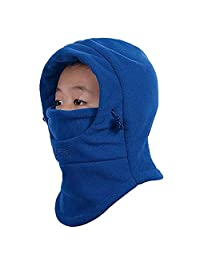 ELANGSHIJIA Children's Winter Windproof Thick Warm Face Cover Hat Balaclava Mask Blue