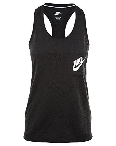 New Nike Women's Signal Tank Top Black/Black/White Large