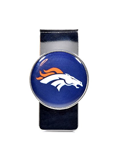 NFL Sports Team Raised Dome Logo Money Clip (Denver Broncos)