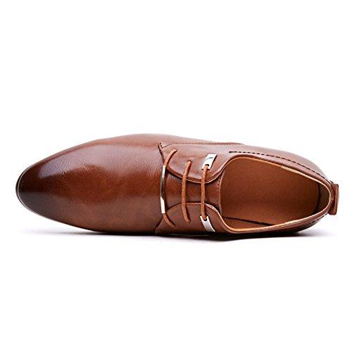 Rainlin Mens Classiche Scarpe Stringate Eleganti Da Lavoro Marrone