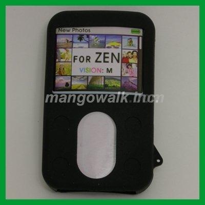 (Black Silicone Skin Case for Creative ZEN VISION M 30GB)