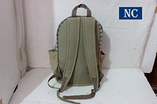 Pure Hemp Natural Light Greay Color Backpack Handmade Nepal with Laptop Sleeve - Fashion Cute Travel School College Shoulder Bag / Bookbags / Daypack by Nepal Hemp House (Image #1)