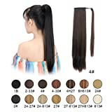 "Best Hair Extension Ponytail Real Hairs - BARSDAR 26"" Long Straight Wrap Around Synthetic Ponytail Review"