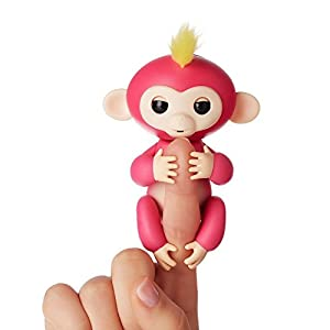 WowWee Interactive Baby Monkey - Bella (Pink with Yellow Hair)