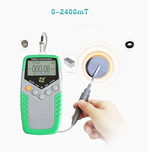 VTSYIQI Tesla Meter Permanent Magnet Gauss meter High Precision Gaussmeter Fluxmeter Surface Magnetic Field Tester with 1/% Accuracy
