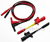 TestHelper Silicone Test Leads With Banana Socket Connection Wire Duty Piercing Probe Test Clip Quick Pierce Testing