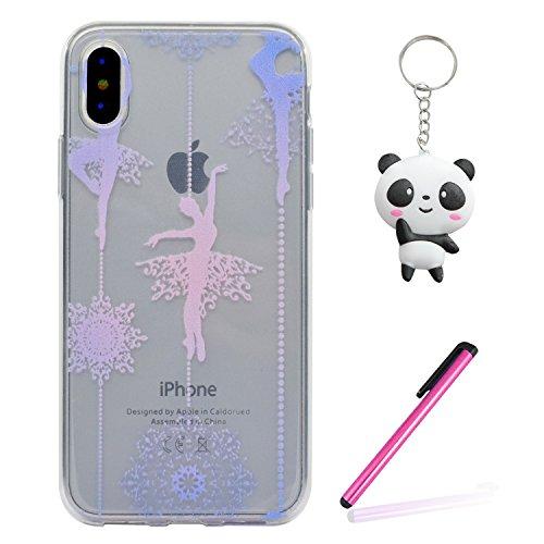 iPhone X Hülle Ballett Mädchen Premium Handy Tasche Schutz Transparent Schale Für Apple iPhone X / iPhone 10 (2017) 5.8 Zoll + Zwei Geschenk