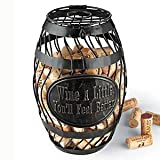 Wine Enthusiast 'Wine A Little' Wine Barrel Cork Catcher