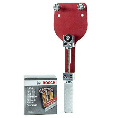Bosch 3330 Premium FILTECH Oil Filter with Longacre 77750 Oi