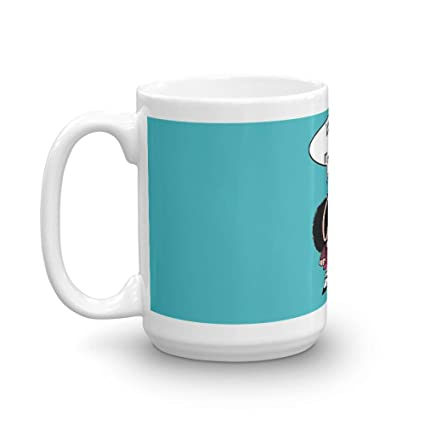 Mafalda Coffee 15 Oz Ceramic Glossy Gift For Lovers Quote Mug Gifts