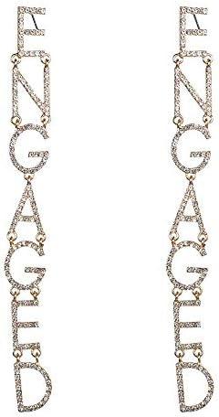 BZM-ZM 人のファッションデザインビッグネームの英語のアルファベットダイヤモンドのイヤリングの流入女性の絶妙なスーパーフラッシュ