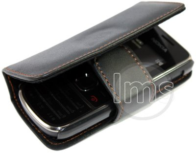 buy online a0a6a 73d4d BLACK LEATHER WALLET CASE COVER FOR NOKIA 2700 CLASSIC: Amazon.co.uk ...