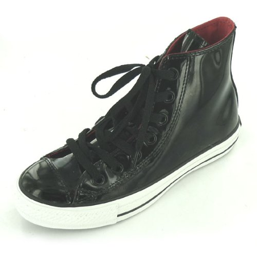 Converse Star Chuck Taylor Chucks – CT Leather Pelle Patent Hi Nero di misura: 3,5/36