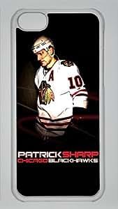 PATRICK SHARP CHICAGO BLACK HAWKS Custom PC Transparent Case for iPhone 5C by LZHCASE
