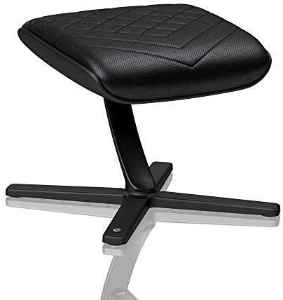 360/° Rotatable Black Footrest noblechairs Footrest for Gaming Chair Practical Adjustment PU Leather 57/° Tiltable Office Chair