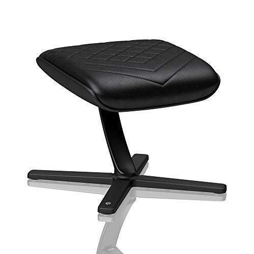 noblechairs Footrest for Gaming Chair - Office Chair - PU Leather - Footrest - Practical Adjustment - 360° Rotatable - 57° Tiltable - Black by noblechairs