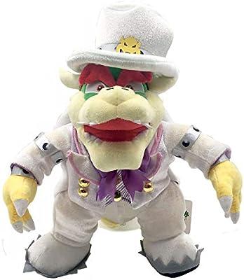 Yijinbo Super Mario Odyssey King Bowser Boss Wedding Dress Plush Toy Stuffed Animal 14 Inches