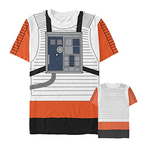 Star Wars Men's Red Five Pilot Costume Multi-Color All-Over Print T-Shirt ()