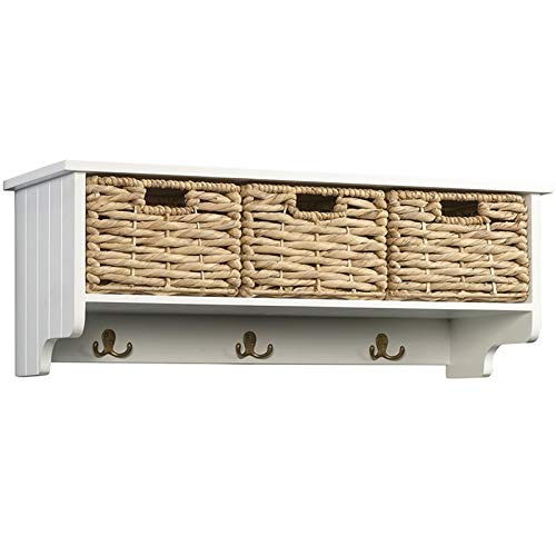 Sauder Cottage Road Hanging Cabinet/baskets, White finish (The Cottage Collection)
