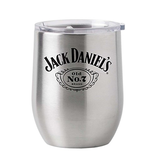 (Jack Daniel's 16oz Stainless Steel Metal Tumbler Cup With Lid )