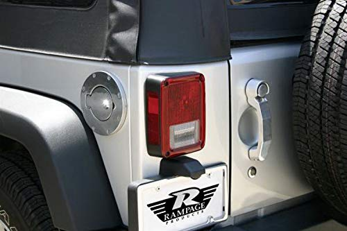 - RAMPAGE PRODUCTS 85000 Chrome Billet Style Locking Fuel Door Cover for 1997-2006 Jeep Wrangler TJ