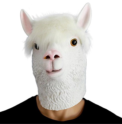 QTMY Latex Rubber Animal Sheep Mask for Halloween Party (Sheep Masks)