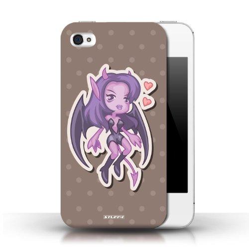 Etui / Coque pour Apple iPhone 4/4S / Diablesse conception / Collection de Petits monstres