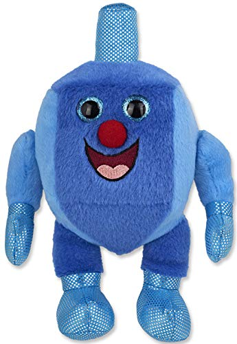 Aviv Judaica Plush Musical Dreidel Man, Plays 2 Hanukkah Songs (Hanukkah Plush)