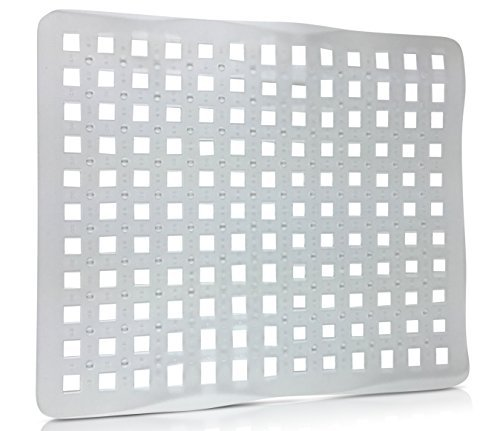 (SET OF 2 - Clear Sink Mat Basin Protector, Perforated Design )