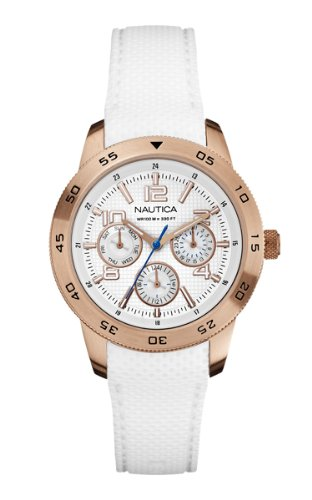 Nautica A18696M Ladies Rose Gold NCT 405 Multifunction Watch