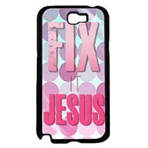 Fix it Jesus Plastic Phone Case Back Cover Samsung Galaxy Note II 2 N7100