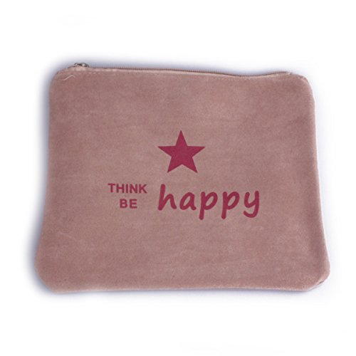 Happy be Think Daim Rouge Aspect Beige Coindesfilles Pochette 5XIqgtwg