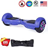 Felimoda Hoverboard UL 2272 Certified Flash Wheel 6.5'' with LED Light Self Balancing Wheel Electric Scooter (Blue)