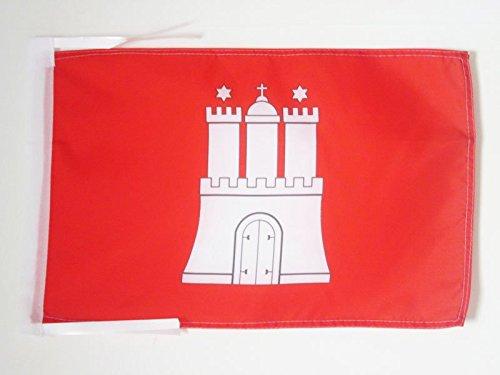 AZ FLAG Flagge HAMBURG, 45 x 30 cm-Flagge, HAMBURG, Deutschland, LAND, 30 x 45 cm-PREMIUM QUALITÄT-Made in Germany