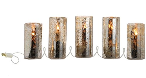 78'' Antiqued Lighted Pillar Candle Strand
