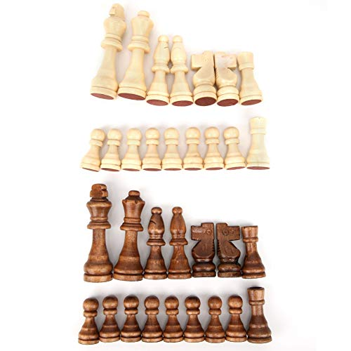 Tnfeeon 32pcs Juego de ajedrez Peso Torneo Piezas de ajedrez sin Tablero Juguete de interacción Padre-Hijo Regalo de…