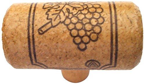 Gold Leaf Cork Cabinet Knob (Vine Designs MER-OAK Merlot Series Wine Cork Knob)