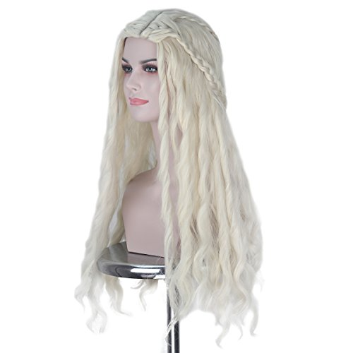 Pop Angel Wig In Platinum Blonde - iCos Women Long Wavy Prestyle Hair
