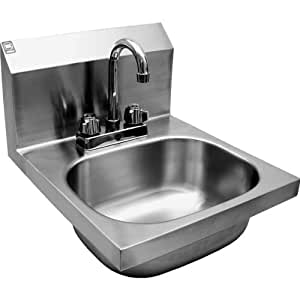 Ace Wall Mount Stainless Steel Hand Sink W No Lead Deck
