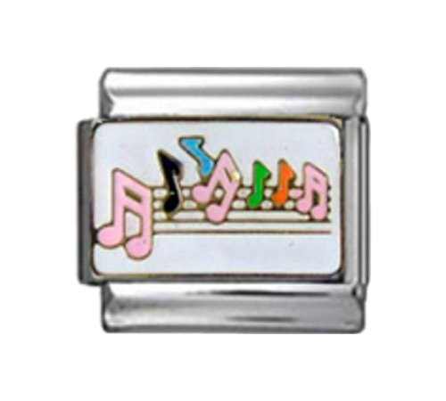 Stylysh Charms Music Musical Notes Enamel Italian 9mm Link MD050