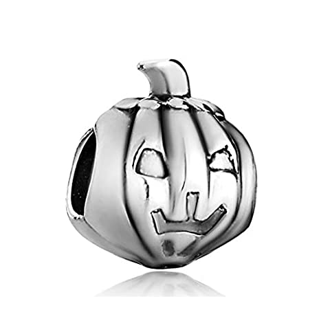 Q&Locket Jack-o-lantern Charm Halloween Charms Beads For Bracelets - Jack Heart Charm