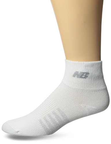 New Balance Thin Quarter 2 with Coolmax 2 Pair Folder 2 Pair Folder Socks, X-Large, White
