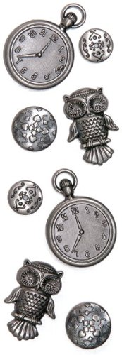 Momenta Metal Watch and Owl, Antique