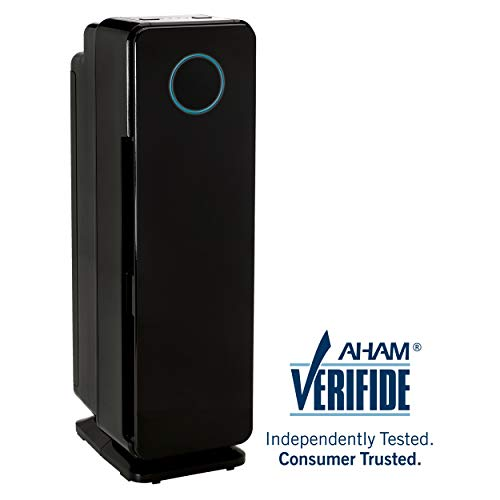 "GermGuardian AC4300 3-n-1 True HEPA Filter Air Purifier for Home, UVC, Full Room Air Purifier for Allergies and Pets, Air Cleaner Traps Smoke, Dust, Dander, Odor, Germs, Mold, 3Y Wty Germ Guardian 22"" Review"