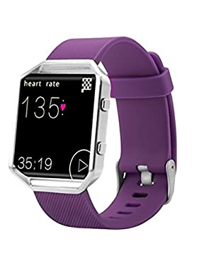 Fitbit Blaze Band, BeneStellar Silicone Replacement Large Small Band Bracelet Strap for Fitbit Blaze Smart Fitness Watch ( Without Frame)